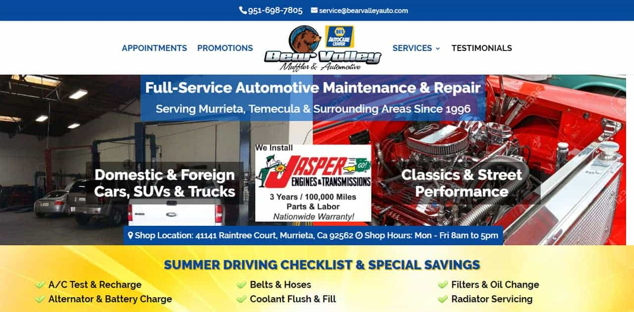 Featured Client: Bear Valley Auto, Murrieta, CA
